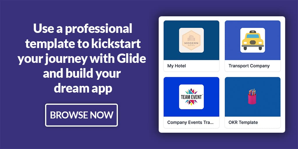 glide apps image cta for professional templates