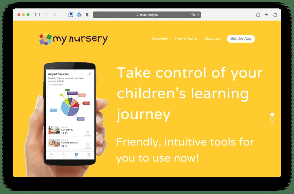 mynursery no-code app examples