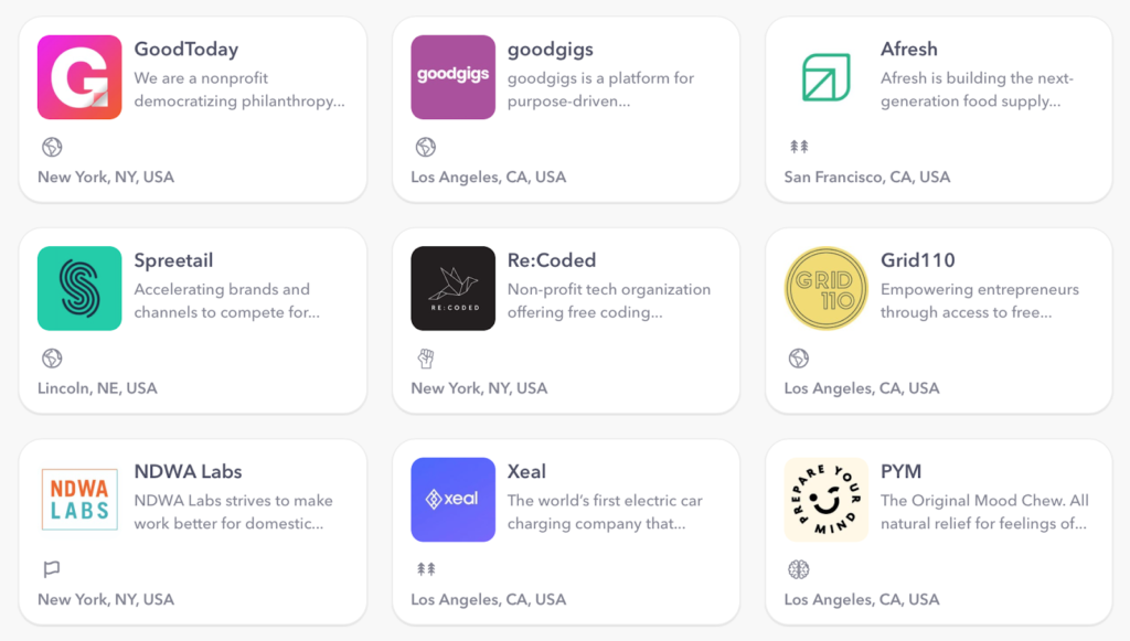 cause-driven jobs available on goodgigs
