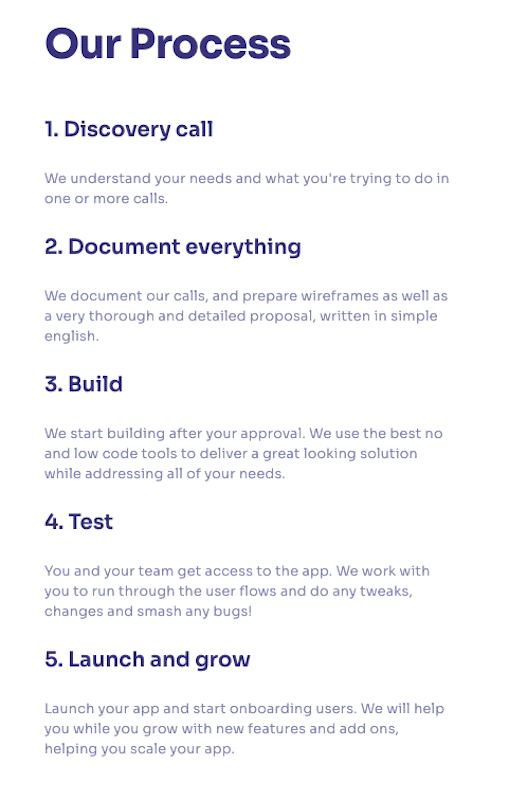 lowcode agency custom project app development process for business