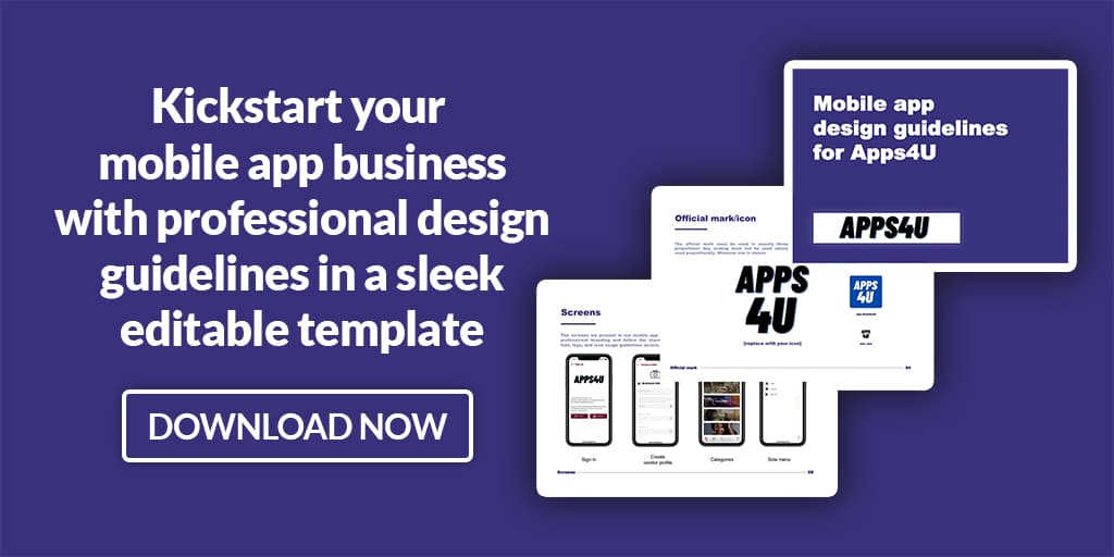 mobile app design guidelines template