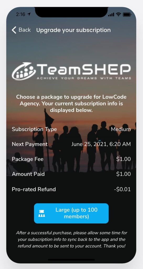 upgrade your subscription saas business models mobile app