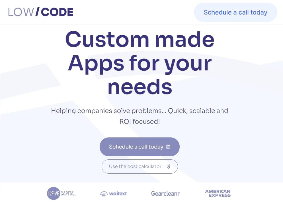 Low Code Agency Homepage
