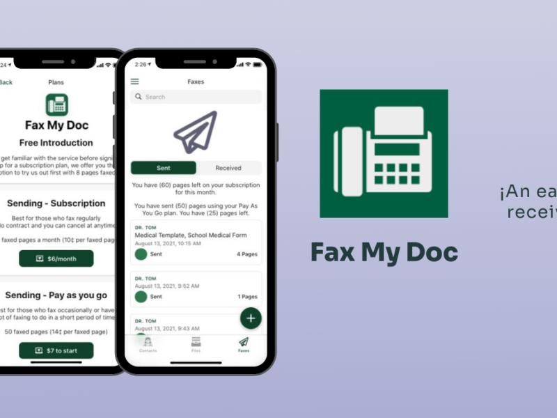 FaxMyDoc lowcode glide integromat
